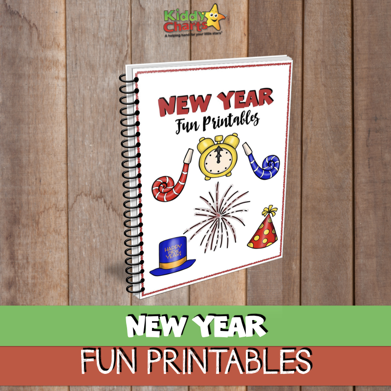 New Year free ebook printables for chlidren