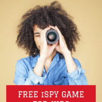 Free printable kids iSpy game for the car