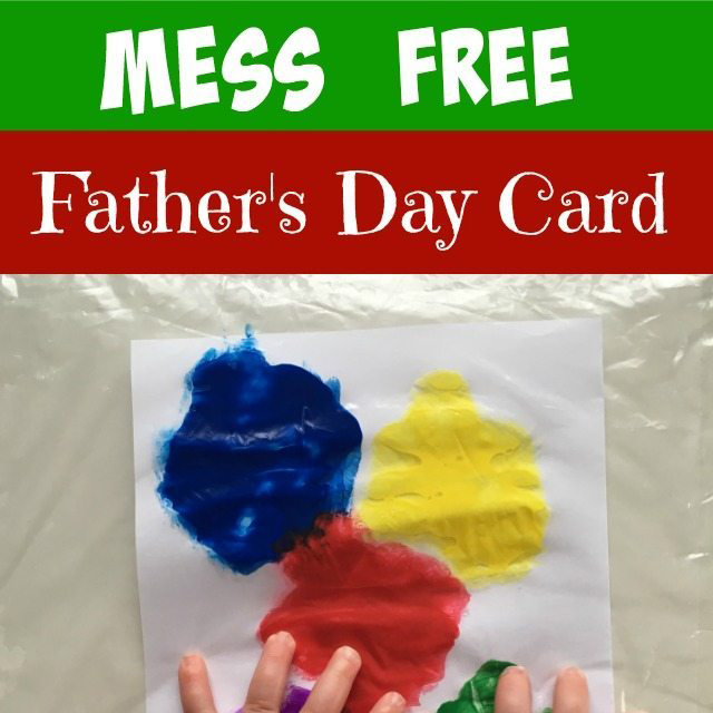 Mess Free Father's Day Card