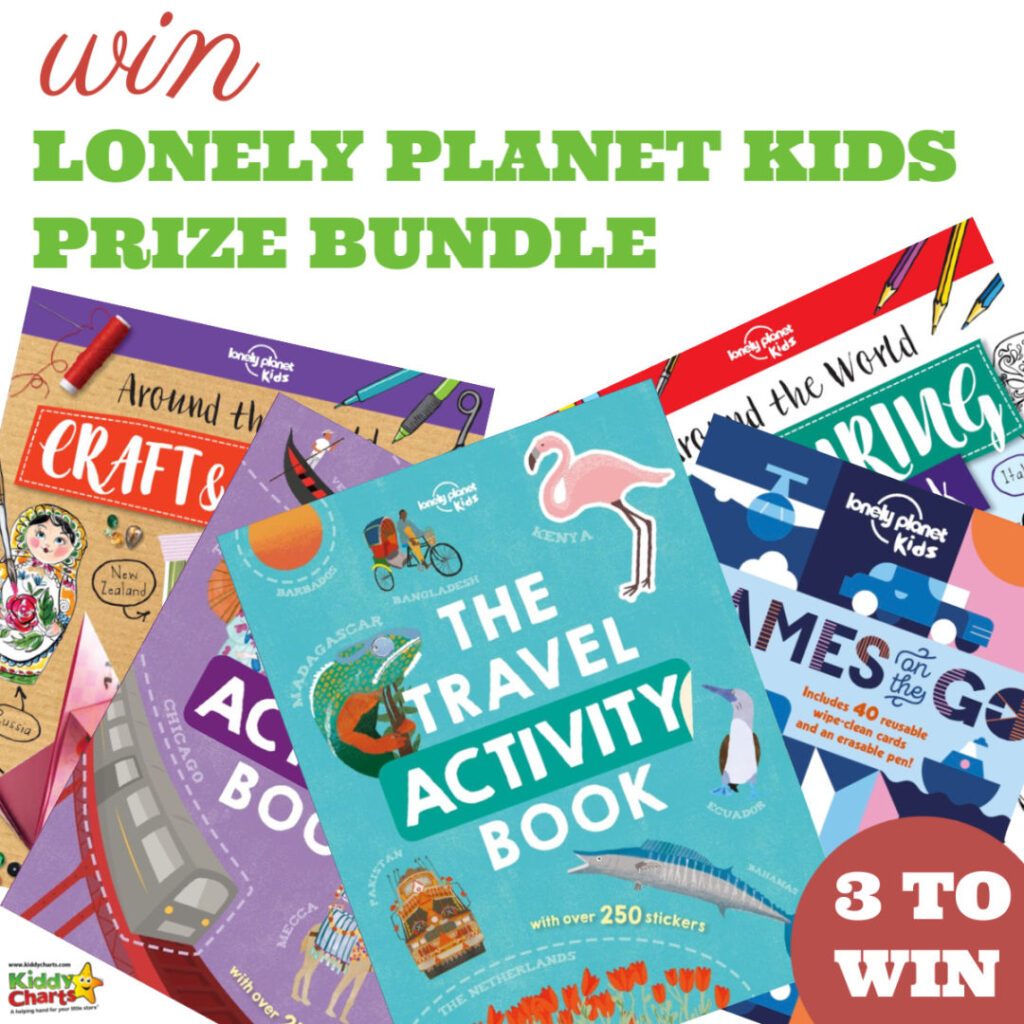 Our final giveaway this summer countdown is wonderful Lonely Planet Kids activity books - amazing books to help kids learn about the world around them.