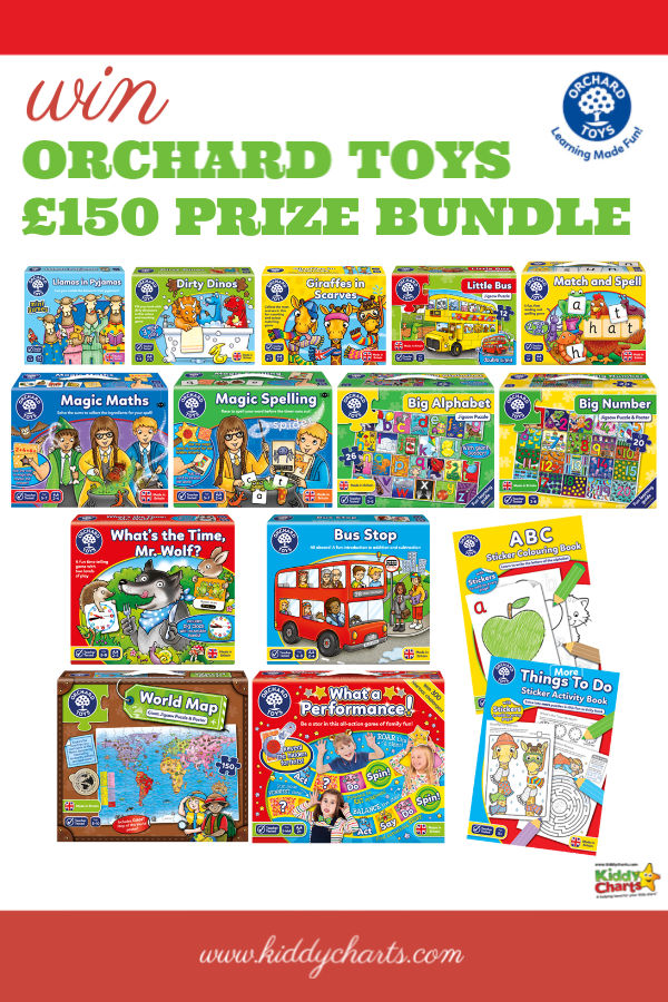 Amazing bundle of Orchard Toys worth £150 to give away to a lucky winner! Closes 17th August, 2019. Get ON it! #giveaways #win #toys #OrchardToys #Learning
