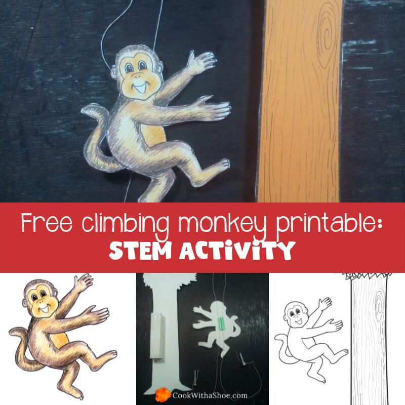 Stem activities for kids: climbing monkey printable
