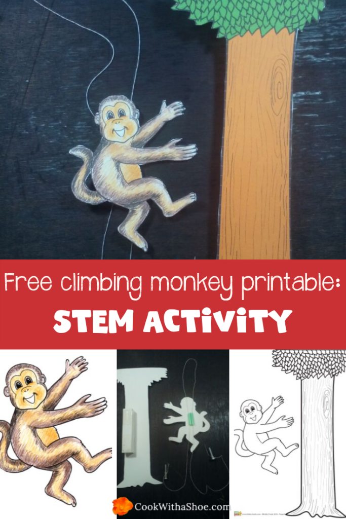 STEM activities for kids: Free climbing monkey printable