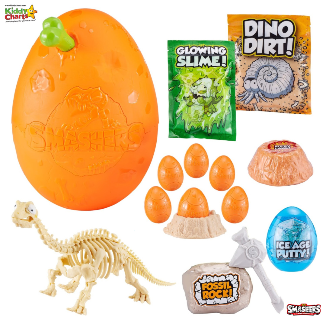 Win Smashers Dino prize bundle including a new Epic Dino Egg