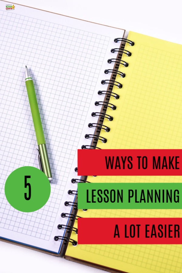 lesson planning sheets