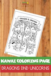 Kawai coloring page