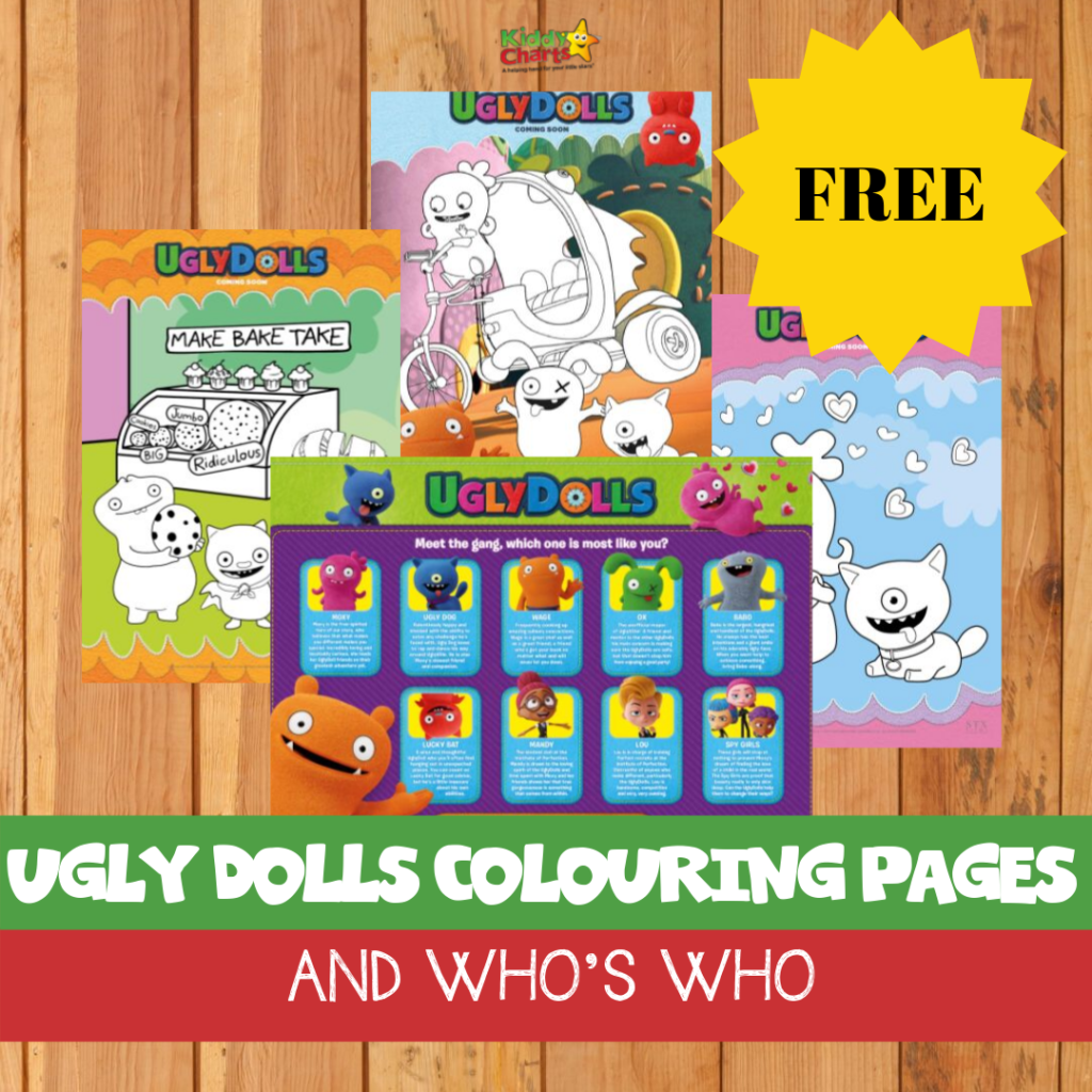 ugly dolls colouring: graphic