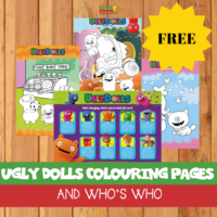 Free Ugly Dolls colouring pages and who's who