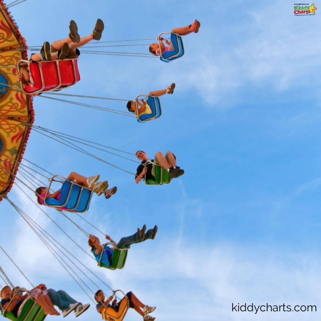 Funfair swings