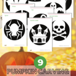 Today I would like to share 9 pumpkin carving templates for kids after some tips for pumpkin carving with kids. I hope you can have fun with them while carving the pumpkins. #Printable #PumpkinCarving #Pumpkin #Halloween