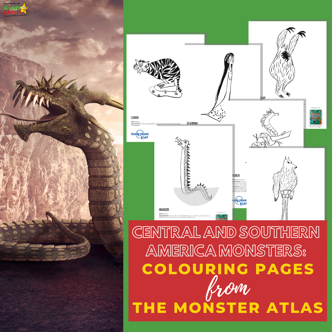 Want to find out about South American monsters - then we've got the lowdown for you, and some of them to colour in. Come and see us now!