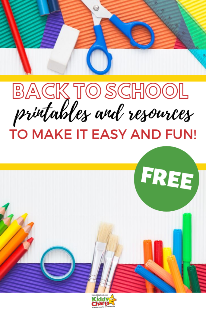 We know back to school can be a difficult time for all so we've gathered some of our most popular free back to school printables and resources to make things easy! Get the resources by visiting www.kiddycharts.com and Pin this for later! #backtoschool #school #schoolorganization #schoolhacks #backtoschoolhacks #backtoschoolmomroutine #backtoschoolfreeprintables #backtoschoolfreeactivities #homeschooling #homeschool