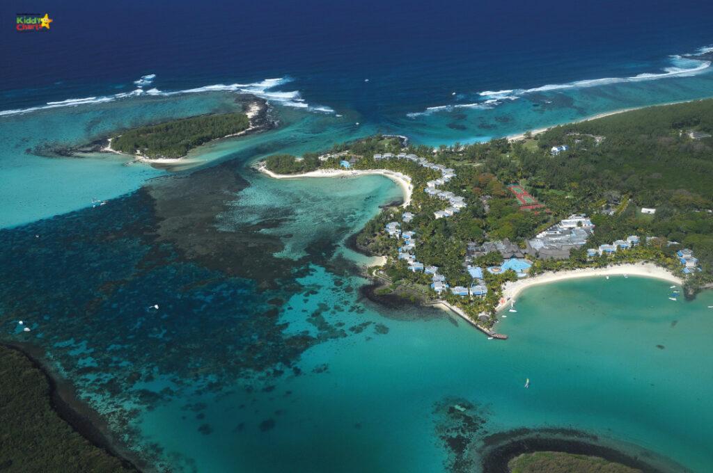 Shandrani resort review: resort aerial shot