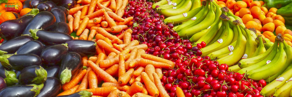 Selection of brightly coloured fruits.