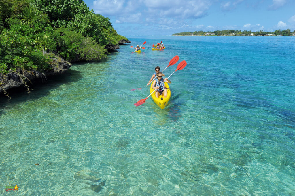 Shandrani resort review: kayaking.
