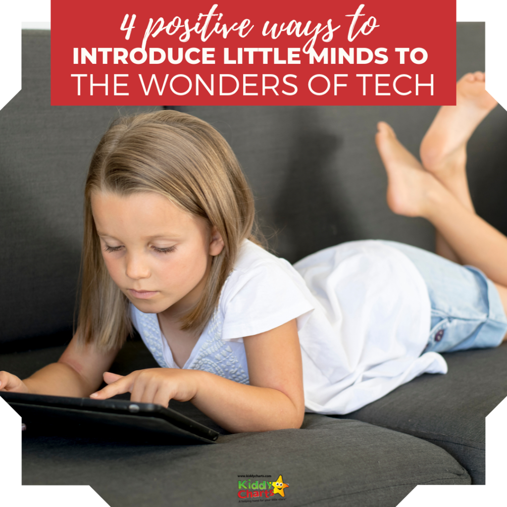 Little ones must learn how to use the wonders of tech productively, not addictively. Here 4 positive ways to introduce technology to kids.