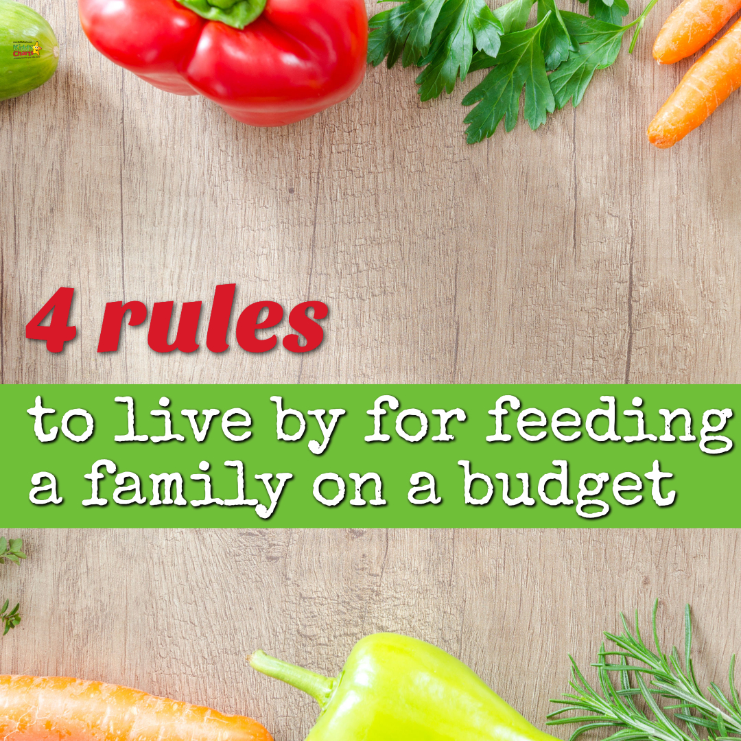 4 rules to live by for feeding a family on a budget.