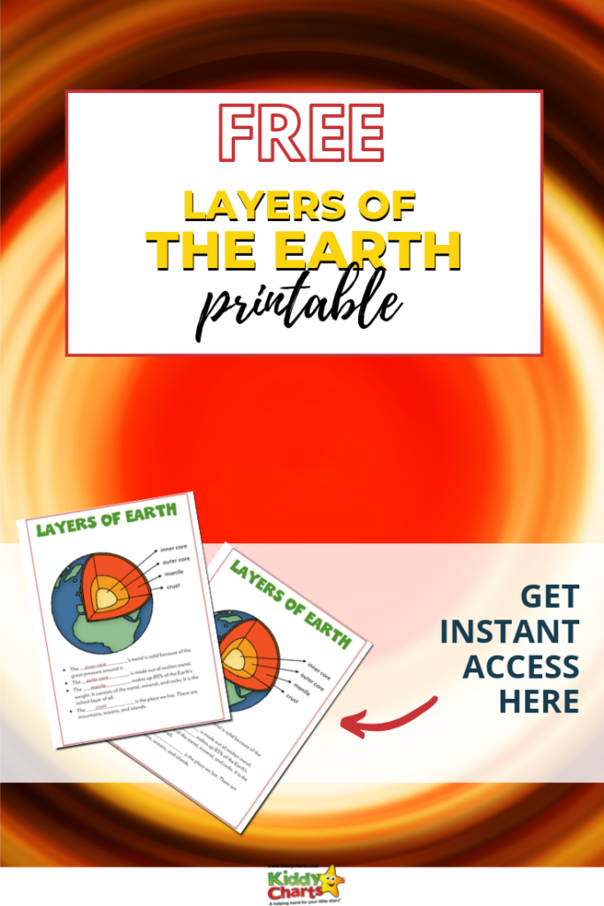 layers of the earth printable.