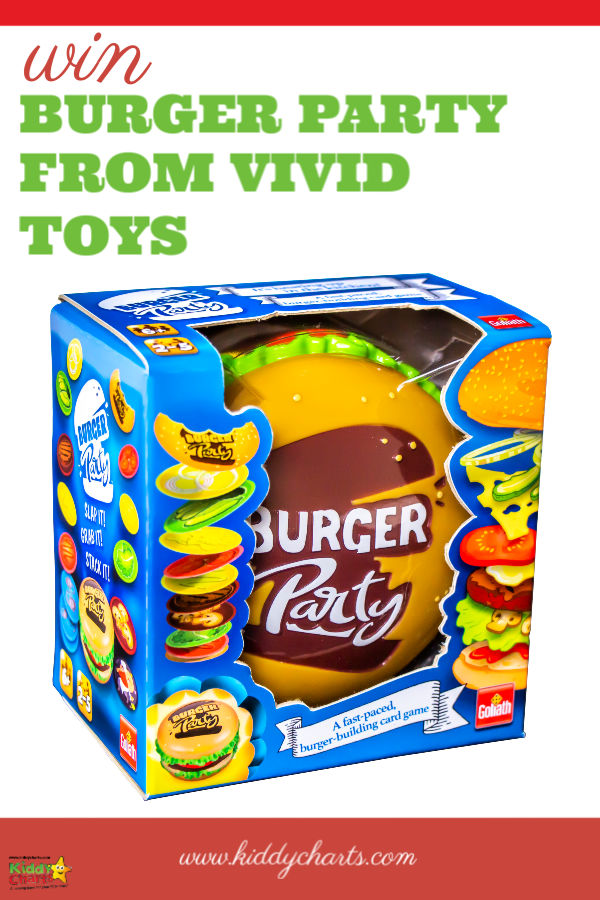 Burger party game - A fantastic giveaway in collaboration with Vivid Toys!