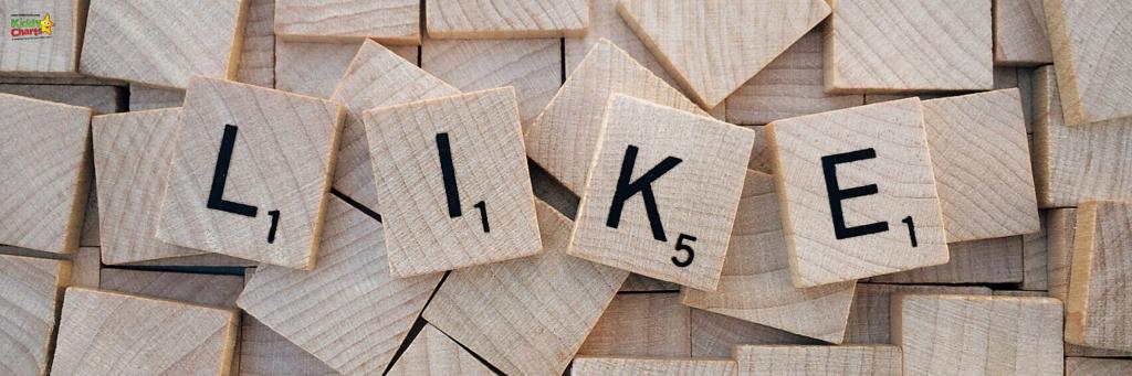 Like spelt in Scrabble letters
