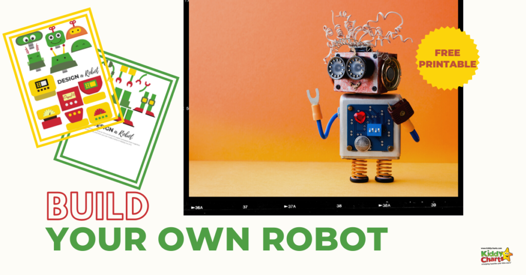 We LOVE a little bit of STEM activity on KiddyCharts, so let's inspire some playtime fun for our kids with our new build your own robot STEM printable.