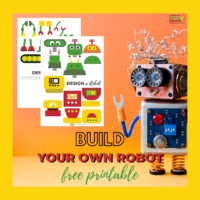 Build your own robot free STEM printable