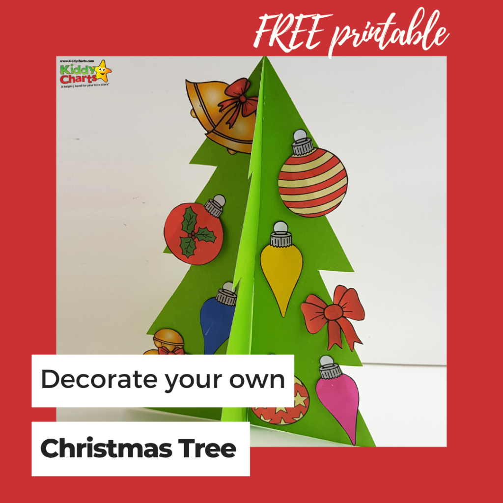 Free printable decorate your own Christmas Tree