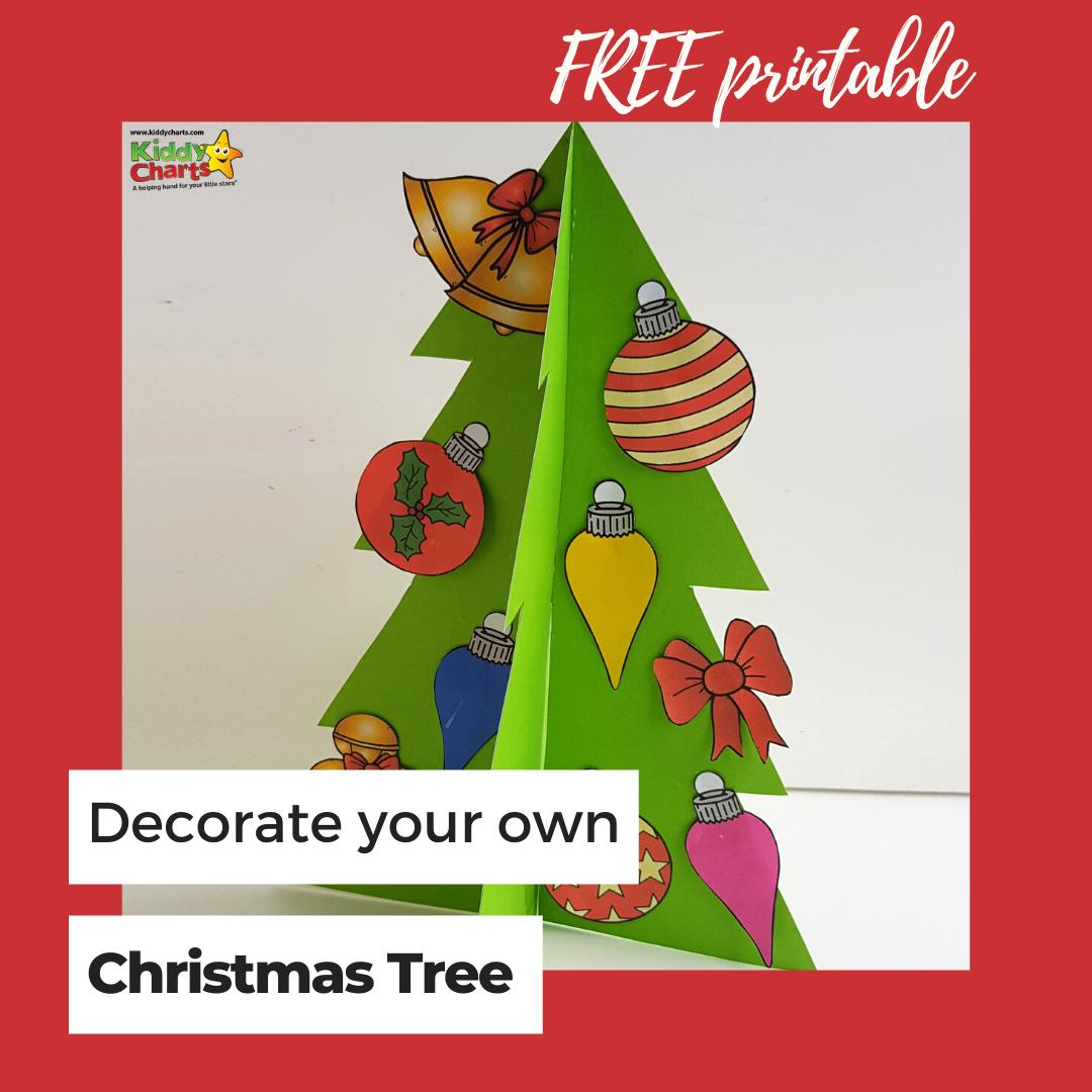 Christmas tree free printable.