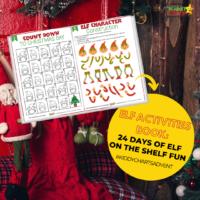 Elf activities book: 24 days of Elf on the Shelf fun #KiddyChartsAdvent