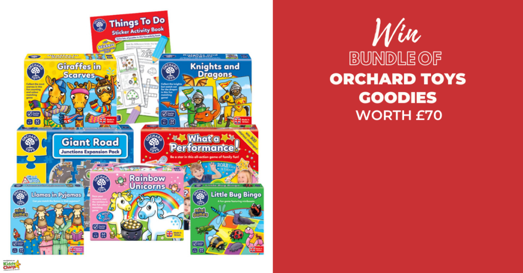 We've teamed up with award winning Orchard Toys to put together this bundle of Orchard Toys! It's the perfect way to kick off the Advent giveaways!