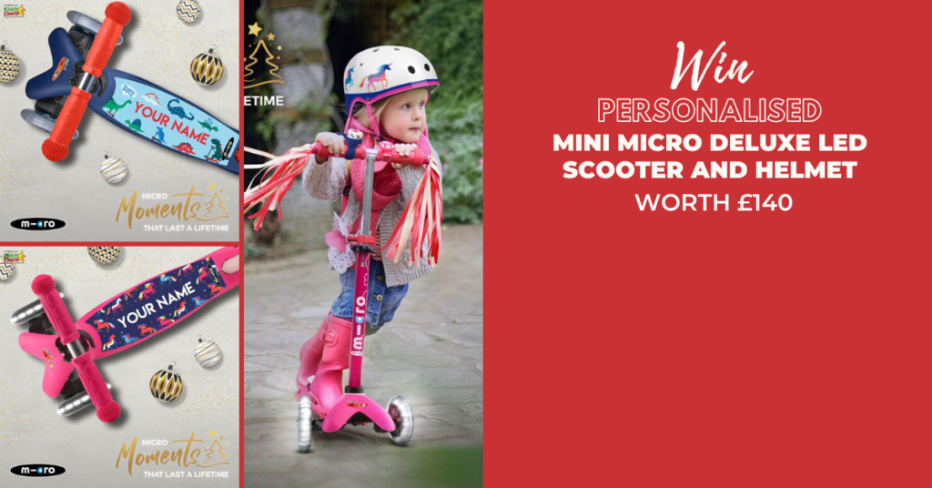 The Mini Micro Deluxe LED scooter is brimming with features that make it shine bright for your Christmas - win one in our fantastic giveaway!