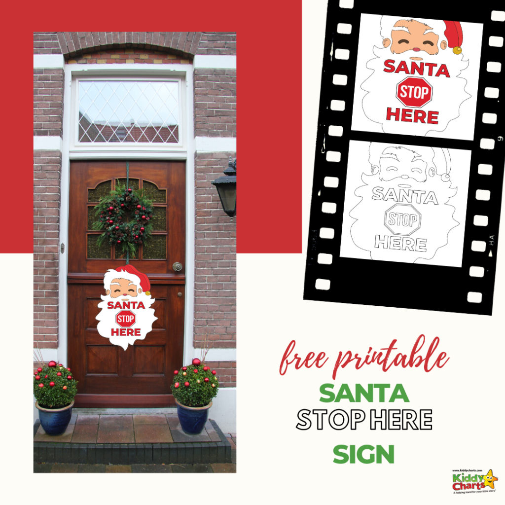 We all love a Santa Stop sign as a reminder of who is arriving with our christmas presents soon! Here is a fantastic free printable Santa Stop sign for you!