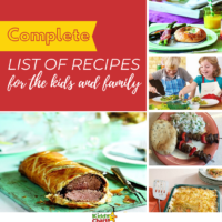 Complete list of recipes for the kids and family