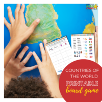 Countries of the world printable board game