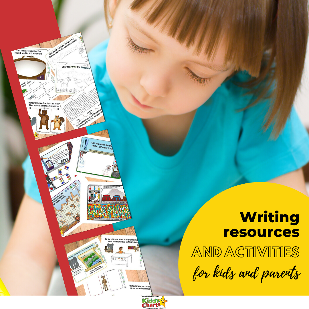 Writing resources and activities for kids and parents