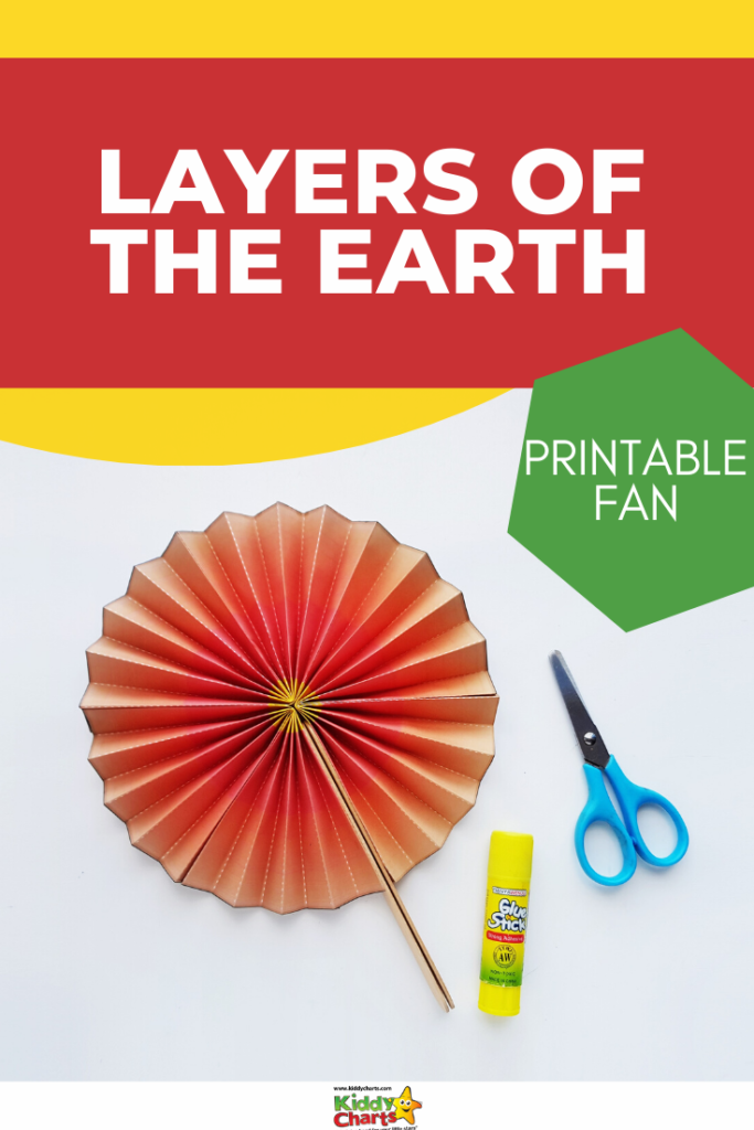 Today we're excited to offer a fun project, making a fan out of the layers of the Earth!