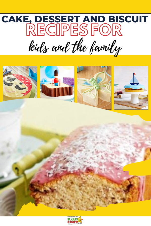 Cake, dessert, and biscuit recipes for kids and the family