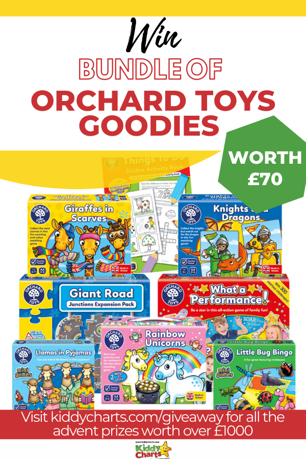 We've teamed up with award winning Orchard Toys to put together this bundle of Orchard Toys. It's the perfect way to kick off the Advent giveaways!