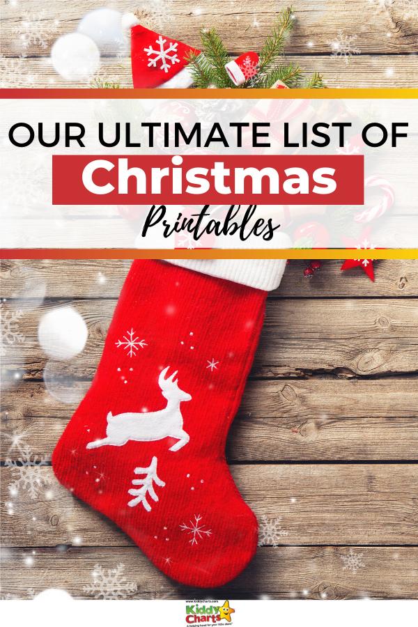 KiddyCharts ultimate list of free Christmas printables