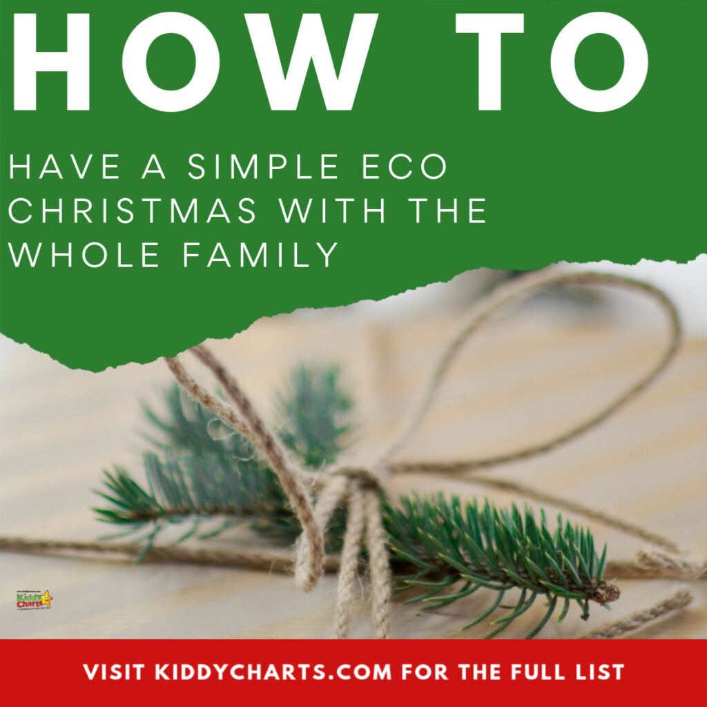 how to have a simple eco Christmas with the whole family
