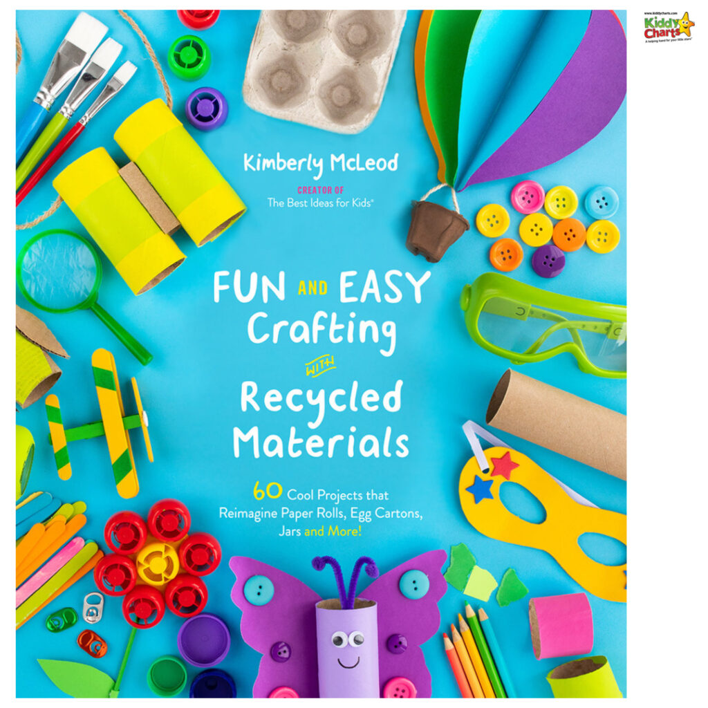 Fun and Easy Crafting with Recycled Materials book cover.