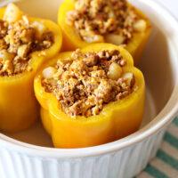 Recipe: Chorizo and Egg Stuffed Bell Pepper