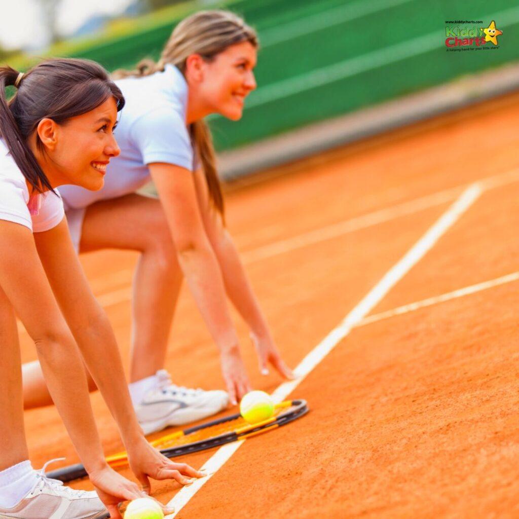 2 women/mums playing tennis KiddyCharts
