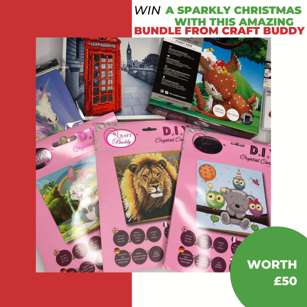 Take some time to relax and enjoy the therapeutic benefits of Crystal Art with this fantastic prize bundle from Craft Buddy – worth over £50!