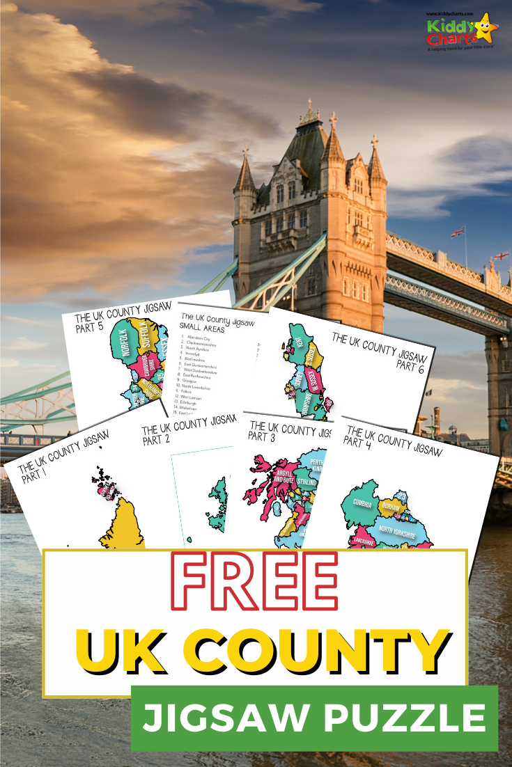 This UK county jigsaw puzzle is the perfect way to help educate your kids about the UK without having to go to the local library!