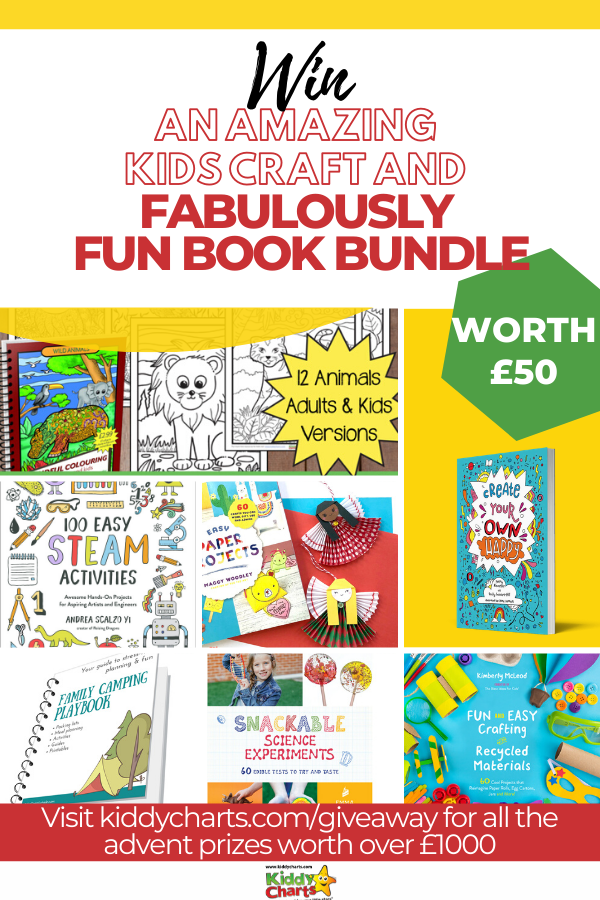 Win a wonderful kids craft and fun book bundle with Kiddy Charts!