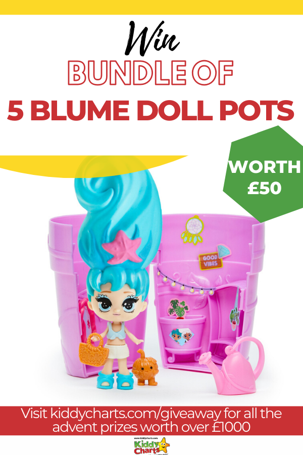 Bundle of FIVE Blume Doll pots for your little ones to enjoy!