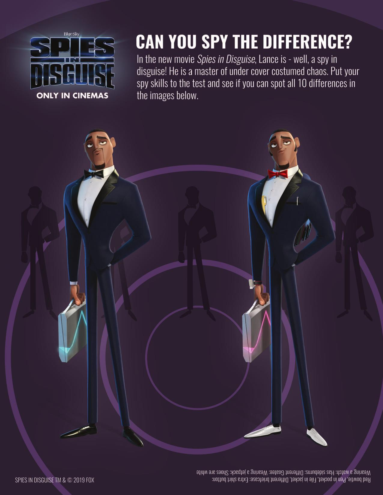 Spies in Disguise activity pack!