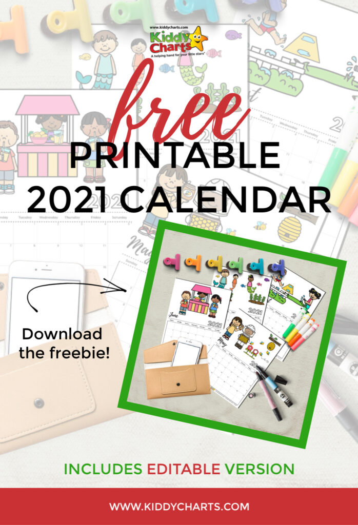 Free printable 2021 calendar: includes editable version