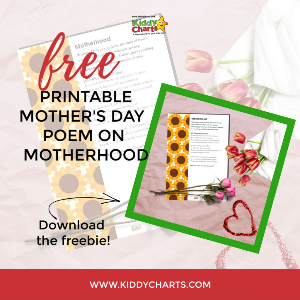 Free Printable Mother's Day Gift: Mother's Day Poem